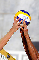 Players in action at the Beach Volleyball World Tour Grand Slam, Foro Italico, Rome, 22 June 2013. Brazil defeated Germany 2-0.<br /> UPDATE IMAGES PRESS/Isabella Bonotto