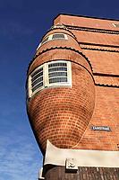 Nederland Amsterdam - Januari 2019. Het Schip in de Zaanstraat, gebouwd in Amsterdamse School stijl.  Het gebouw is ontworpen door Michel de Klerk .   Foto Berlinda van Dam / Hollandse hoogte
