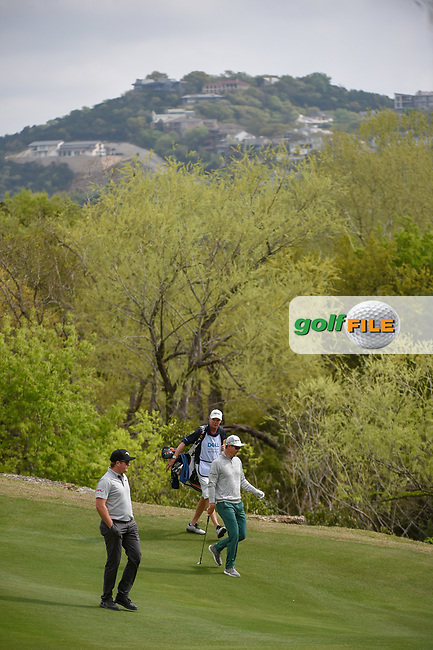 Eddie Pepperell (ENG) and Justin Rose (GBR) make their way down 2 during day 2 of the WGC Dell Match Play, at the Austin Country Club, Austin, Texas, USA. 3/28/2019.<br /> Picture: Golffile | Ken Murray<br /> <br /> <br /> All photo usage must carry mandatory copyright credit (© Golffile | Ken Murray)