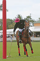 WELLINGTON, FL - MARCH 05: Orchard Hill's 10 goaler, Polito Pieres warms up before the game of the C V Whitney Cup Final as Valiente defeats Orchard Hill 14 - 11,  at the International Polo Club, Palm Beach on March 05, 2017, in Wellington, Florida. (Photo by Liz Lamont/Eclipse Sportswire/Getty Images)