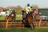 Winner of The I E P Financial Novices' Hurdle, Adicci ridden by Jonjo O'Neil Jnr and trained by Jonjo O'Neill  during Horse Racing at Plumpton Racecourse on 2nd December 2019