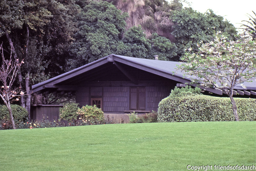 Greene & Greene:  Gamble House, Pasadena, 1908. Arts & Crafts design.<br />