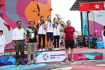 (L-R) Sa Sol (KOR), Akiyo Noguchi (JPN), Kim Ja In (KOR),<br /> AUGUST 26, 2018 - Sport Climbing : <br /> Women's Combined Medal Ceremony <br /> at Jakabaring Sport Center Sport Climbing <br /> during the 2018 Jakarta Palembang Asian Games <br /> in Palembang, Indonesia. <br /> (Photo by Yohei Osada/AFLO SPORT)