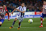 Real Sociedad´s Jonathas de Jesus during 2015-16 La Liga match between Atletico de Madrid and Real Sociedad at Vicente Calderon stadium in Madrid, Spain. March 01, 2016. (ALTERPHOTOS/Victor Blanco)