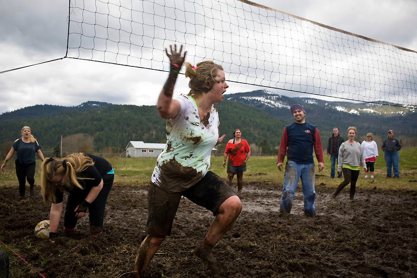 at the 2011 Mud Volleyball Tournament in Laclede, ID sponsored by the Kodiak Bar. .(©Matt Mills McKnight/2011)