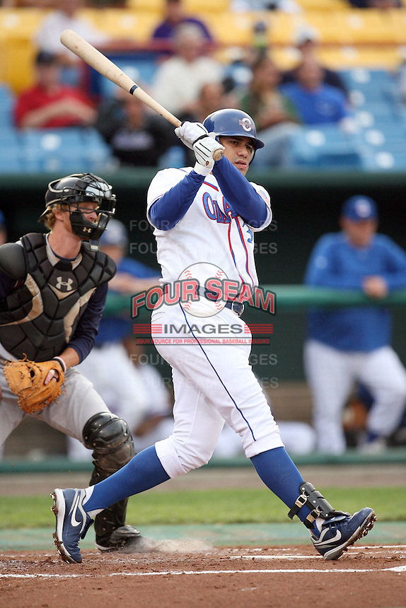 June 2, 2009: Kila Ka'aihue (30) of the Omaha Royals at Rosenblatt Stadium in Omaha, NE.  Photo by: Chris Proctor/Four Seam Images