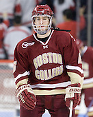Patrick Wey (BC - 6) - The visiting Boston College Eagles defeated the Boston University Terriers 3-2 to sweep their Hockey East series on Friday, January 21, 2011, at Agganis Arena in Boston, Massachusetts.