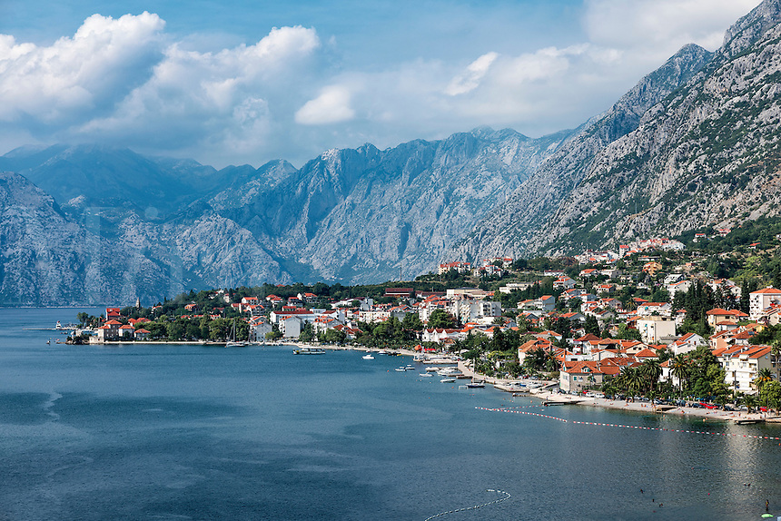 Ccoastal town of Kotor, Bay of Kotor, Montenegro