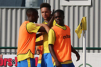 Lionel Stone of Haringey celebrates his goal during Haringey Borough vs Herne Bay, Emirates FA Cup Football at Coles Park Stadium on 7th September 2019