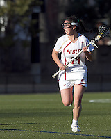 Boston College midfielder Sam Taylor (14). University at Albany defeated Boston College, 11-10, at Newton Campus Field, on March 30, 2011.