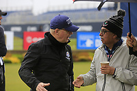 Keith Pelley CEO European Tour and Pawan Munjal during the Hero Pro-am at the Betfred British Masters, Hillside Golf Club, Lancashire, England. 08/05/2019.<br /> Picture Fran Caffrey / Golffile.ie<br /> <br /> All photo usage must carry mandatory copyright credit (&copy; Golffile | Fran Caffrey)