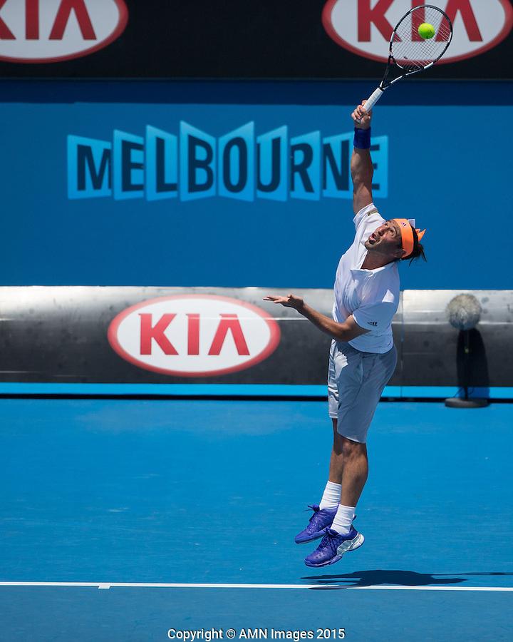 Marcos Baghdatis (CYP)<br /> <br /> Tennis - Australian Open 2015 - Grand Slam -  Melbourne Park - Melbourne - Victoria - Australia  - 23 January 2015. <br /> &copy; AMN IMAGES