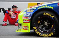 May 1, 2009; Richmond, VA, USA; NASCAR Sprint Cup Series driver Mark Martin during qualifying for the Russ Friedman 400 at the Richmond International Raceway. Mandatory Credit: Mark J. Rebilas-