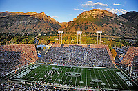 Sept. 19, 2009; Provo, UT, USA; Overall view of LaVell Edwards Stadium during the game between the BYU Cougars against the Florida State Seminoles.. Florida State defeated BYU 54-28. Mandatory Credit: Mark J. Rebilas-