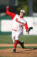February 21, 2009:  Pitcher Steve Forster (16) of St. John's University during the Big East-Big Ten Challenge at Jack Russell Stadium in Clearwater, FL.  Photo by:  Mike Janes/Four Seam Images