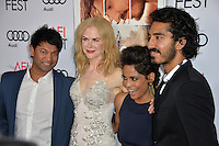 LOS ANGELES, CA. November 11, 2016: Actors Nicole Kidman, Priyanka Bose &amp; Dev Patel &amp; author Saroo Brierley at premiere of &quot;Lion&quot;, part of the AFI Fest 2016, at the TCL Chinese Theatre, Hollywood.<br /> Picture: Paul Smith/Featureflash/SilverHub 0208 004 5359/ 07711 972644 Editors@silverhubmedia.com
