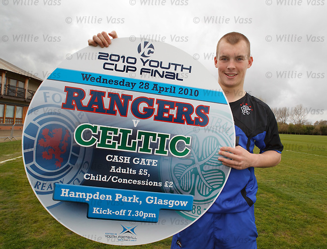 Rangers u-19 player Gregg Wylde looks ahead to Wednesday's Old Firm cup final at Hampden