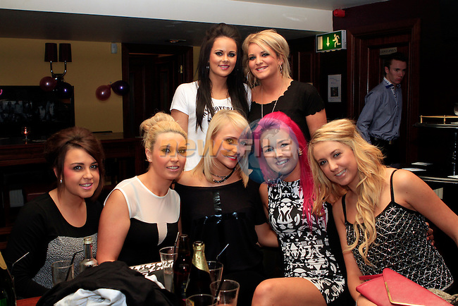 Shakira Delaney, Aoife Conroy, Joanne Malocca, Stephanie Kieran, Shauna Browning, Nicole Hill and Niamh Bidwell in McHughs...Photo NEWSFILE/Jenny Matthews..(Photo credit should read Jenny Matthews/NEWSFILE)