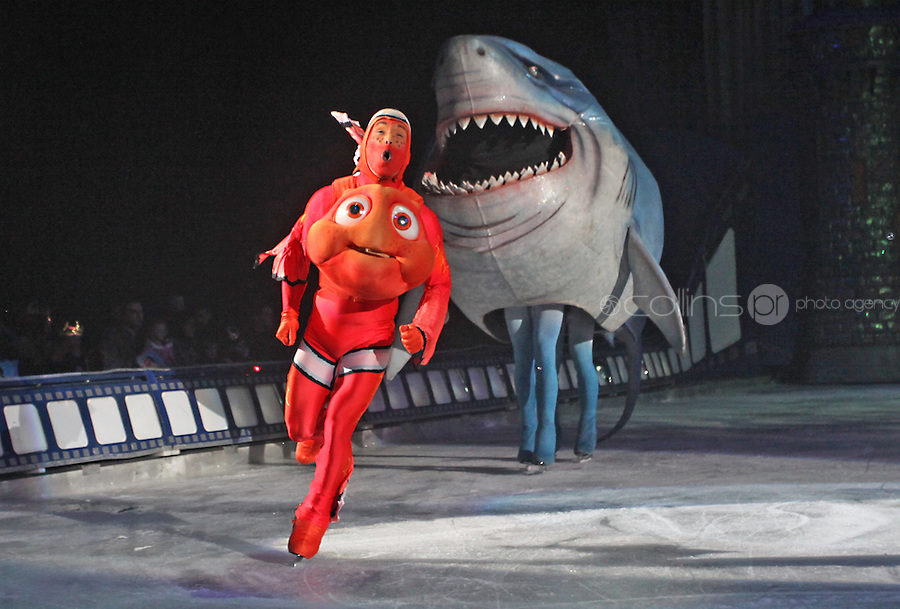 ***** NO FEE PIC*****.26/12/2010.Characters from Finding Nemo.during  Disney On Ice : 100 Years of Magic at the Citywest Hotel , Dublin..Disney on Ice runs from 26th December till the 2nd January 2011 with tickets available from Ticketmaster & Box Offices for all shows. .Photo: Gareth Chaney Collins