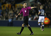 9th February 2018, The Den, London, England; EFL Championship football, Millwall versus Cardiff City; Referee Keith Stroud in action