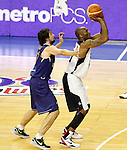 Spain's Sergio LLull (l) and USA's Kobe Bryant during friendly match.July 24,2012. (ALTERPHOTOS/Acero)