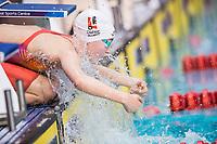 Picture by Allan McKenzie/SWpix.com - 13/12/2017 - Swimming - Swim England Winter Championships - Ponds Forge International Sport Centre - Sheffield, England - Maisie Elliott prepares for her womens open 100m butterfly final.