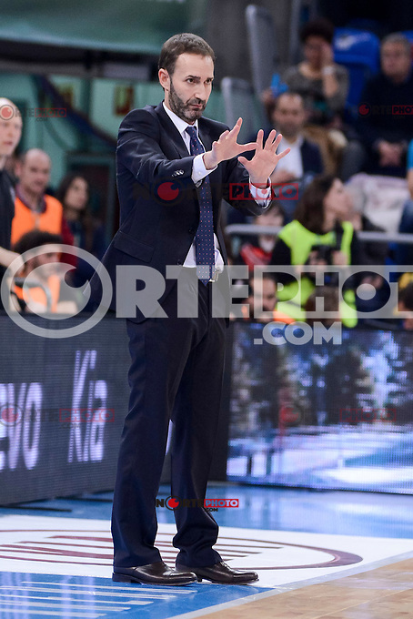 Baskonia's coach Sito Alonso during Quarter Finals match of 2017 King's Cup at Fernando Buesa Arena in Vitoria, Spain. February 16, 2017. (ALTERPHOTOS/BorjaB.Hojas) /Nortephoto.com