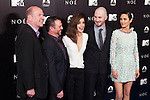 "English actress Emma Watson, centre, US director Darren Aronofsky, (2R), and US actress Jennifer Connelly, right, attend the Premiere of the movie ""Noah"" in Madrid. March 17, 2014. (ALTERPHOTOS/Carlos Dafonte)"