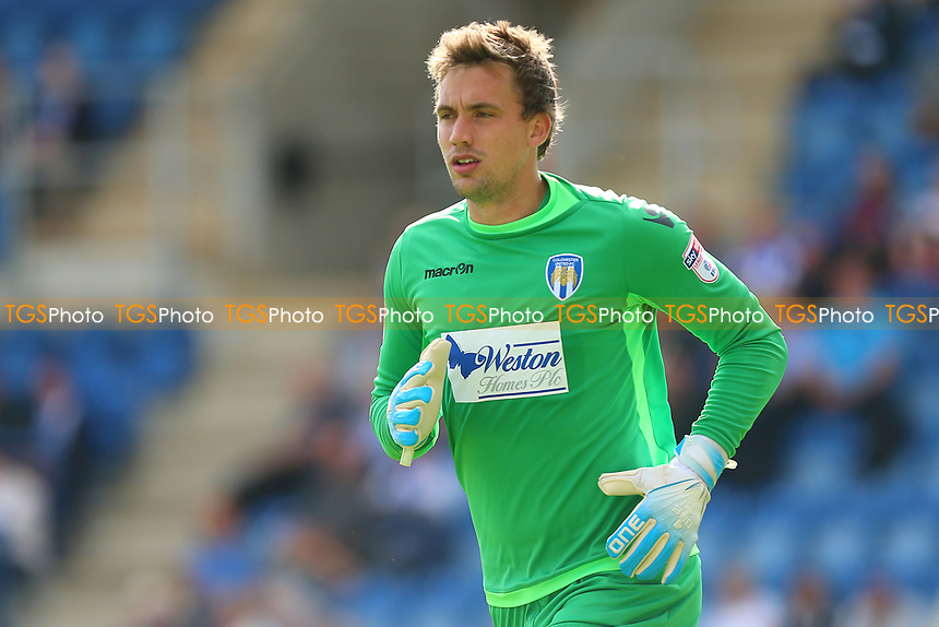 Sam Walker of Colchester United during Colchester United vs Stevenage, Sky Bet EFL League 2 Football at the Weston Homes Community Stadium on 12th August 2017