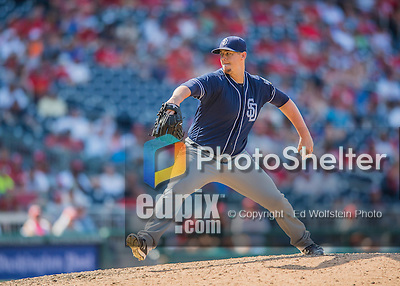 24 July 2016: San Diego Padres pitcher Ryan Buchter on the mound against the Washington Nationals at Nationals Park in Washington, DC. The Padres defeated the Nationals 10-6 to take the rubber match of their 3-game, weekend series. Mandatory Credit: Ed Wolfstein Photo *** RAW (NEF) Image File Available ***