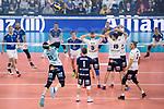 24.02.2019, SAP Arena, Mannheim<br /> Volleyball, DVV-Pokal Finale, VfB Friedrichshafen vs. SVG LŸneburg / Lueneburg<br /> <br /> Aufschlag / Service Raymond Szeto (#11 Lueneburg)<br /> <br />   Foto © nordphoto / Kurth