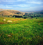 View towards Wharfedale from near Austwick, Yorkshire Dales national park, Yorkshire, England