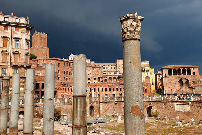 Trajan's forum and market . Rome