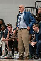 WASHINGTON, DC - JANUARY 5: St. Bonaventure coach Mark Schmidt watches the action during a game between St. Bonaventure University and George Washington University at Charles E Smith Center on January 5, 2020 in Washington, DC.