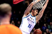 GRONINGEN - Basketbal, Donar - Apollo , Martiniplaza, Dutch Basketbal League seizoen 2019-2020, 18-1-2020,  dunk Donar speler Matt McCarthy