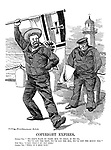 """Copyright Expires. German Tar. """"We don't want to fight, but by jingo, if we do, we've got the ship. we've got the men, we've got the money too."""" John Bull. """"I say, that's my old song."""" German Tar. """"Well, it's mine now."""""""