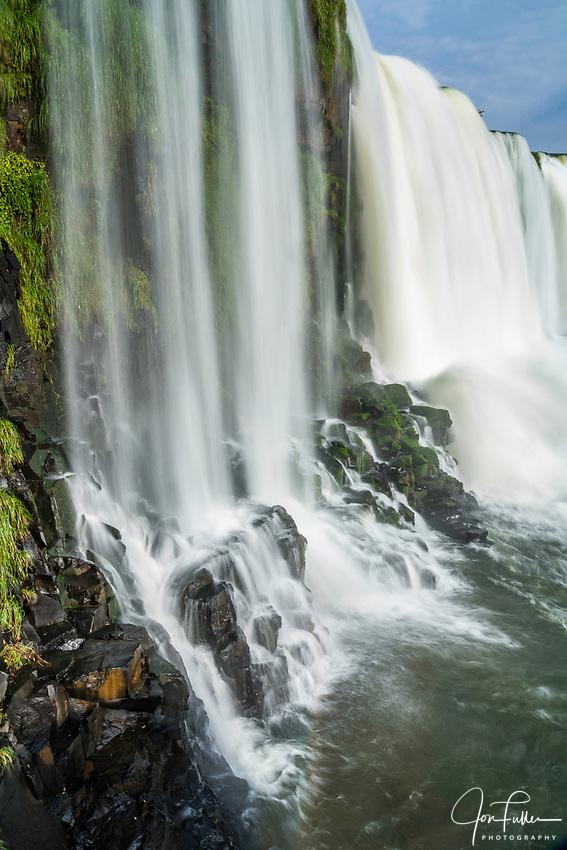 Santa Maria Waterfall at Iguazu Falls National Park in Brazil.  A UNESCO World Heritage Site.