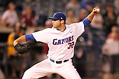 "Florida Gators Steven Rodriguez #32 during a game vs. the Florida State Seminoles in the ""Florida Four"" at George M. Steinbrenner Field in Tampa, Florida;  March 1, 2011.  Florida State defeated Florida 5-3.  Photo By Mike Janes/Four Seam Images"