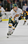 15 February 2008: University of Vermont Catamounts' forward Reese Wisnowski, a Senior from East Middlebury, VT, in action against the Merrimack College Warriors at Gutterson Fieldhouse in Burlington, Vermont. The Catamounts defeated the Warriors 4-1 in the first game of their 2-game weekend series...Mandatory Photo Credit: Ed Wolfstein Photo