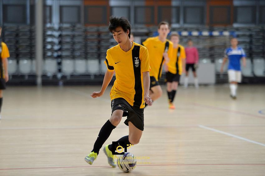 Action from the Futsal Regional Championships at Te ASB Sports Centre, Kilbirnie, New Zealand on Sunday 23 March 2014. <br /> Photo by Masanori Udagawa. <br /> www.photowellington.photoshelter.com.