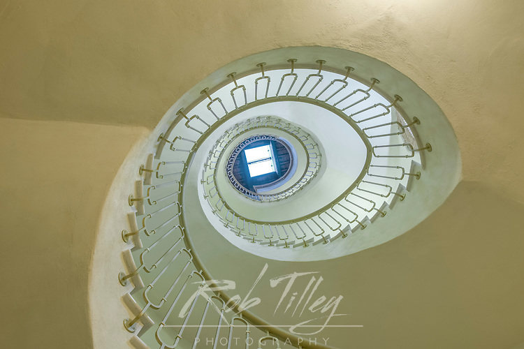 Italy, Tuscany, near Radda in Chianti, Looking Up a Boutique Hotel Staircase