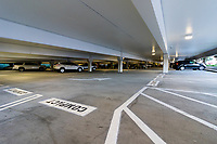 The parking garage of the western portion of South Coast Plaza (Costa Mesa, CA), as seen on Black Friday, 2019.