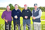 Taking part in The St. Kierans Golf classic Fundraiser at Castleisland Golf Club on Saturday were Shane Roche, Denis Dennehy, Ned Brosnan and Brian Keane.