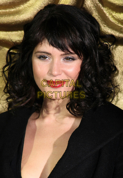 GEMMA ARTERTON .British Academy Children's Film and Television Awards at the London Park Lane Hilton, Park Lane, England, UK, November 30th 2008..BAFTA BAFTA's portrait headshot red lipstick wavy curly hair black .CAP/JIL.©Jill Mayhew/Capital Pictures