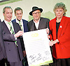 Grassroots Out Public Rally Campaign event at Queen Elizabeth Conference Centre, London, Great Britain <br /> 19th February 2016 <br /> <br /> Nigel Farage <br /> Tom Pursglove MP<br /> George Galloway<br /> Kate Hoey MP <br /> <br /> Photograph by Elliott Franks <br /> Image licensed to Elliott Franks Photography Services
