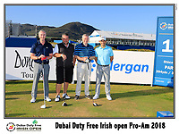 Fabrizio Zanotti (PAR) team on the 10th tee during Wednesday's Pro-Am of the 2018 Dubai Duty Free Irish Open, held at Ballyliffin Golf Club, Ireland. 4th July 2018.<br /> Picture: Eoin Clarke | Golffile<br /> <br /> <br /> All photos usage must carry mandatory copyright credit (&copy; Golffile | Eoin Clarke)