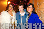 Libbie Enright (Tralee) Glen Murphy (Cork) Elizabeth O'Sullivan (Tralee) ringing in the New Year in the Killarney Plaza hotel on Tuesday night.