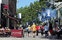 Pictured: Banners in The Hayes, Cardiff Thursday 25 May 2017<br />