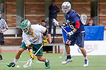 Orange, CA 05/16/15 - Robert Romero (Concordia #1) and Casey Topp (Dayton #26) in action during the 2015 MCLA Division II Championship game between Dayton and Concordia, at Chapman University in Orange, California.