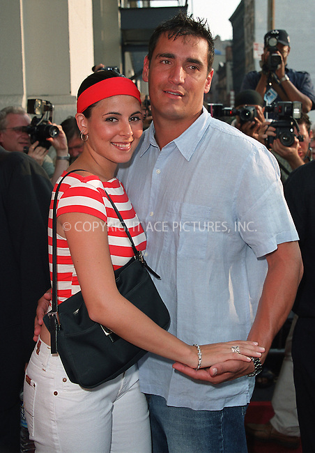 "Jamie Lynn-Sigler and boyfriend attending a screening of ""Never Again"" in New York, July 8, 2002. Please byline: Alecsey Boldeskul/NY Photo Press.   ..*PAY-PER-USE*      ....NY Photo Press:  ..phone (646) 267-6913;   ..e-mail: info@nyphotopress.com"
